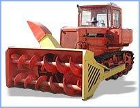 Снегоочистители шнекороторные (шнекороторы) СШР 2,6 и СШР 2,6М (ДЭ 220А) на ДТ-75